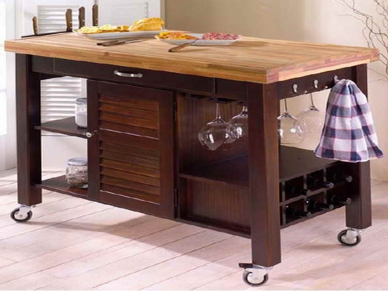 Image of: ikea butcher block table