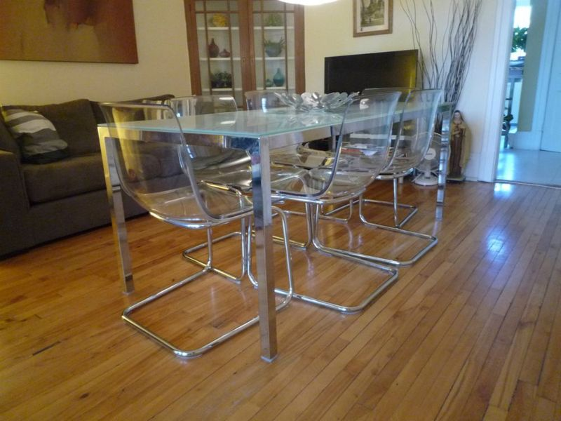 Image of: ikea glass top coffee table