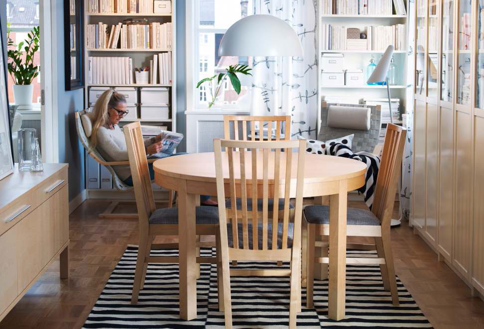 Image of: ikea round dining table