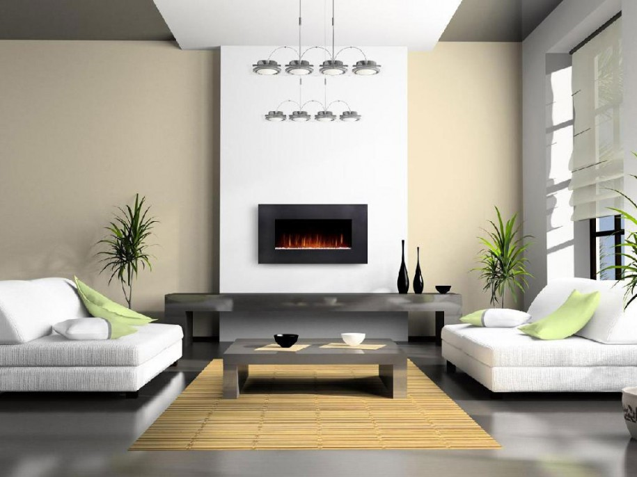 Image of: indoor fireplace design ideas
