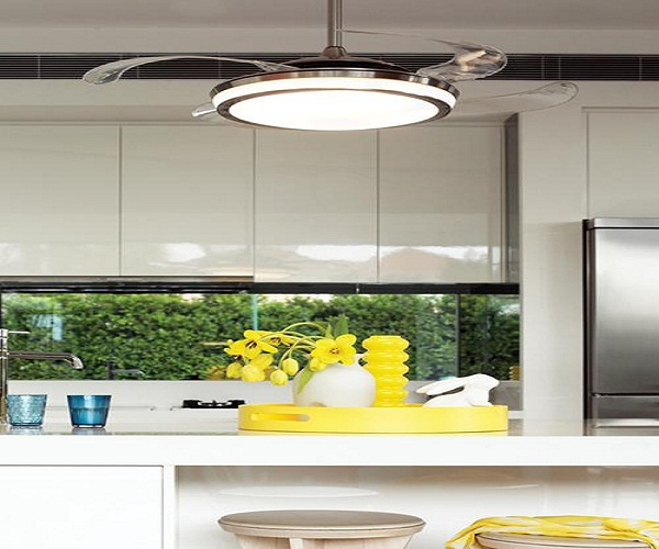 Image of: kitchen ceiling lights with fan