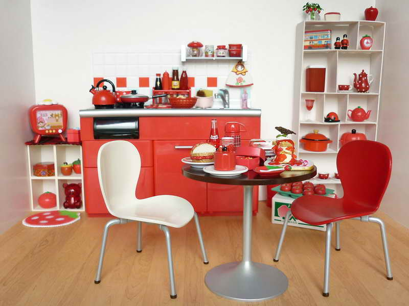 Image of: kitchen decorating themes apples
