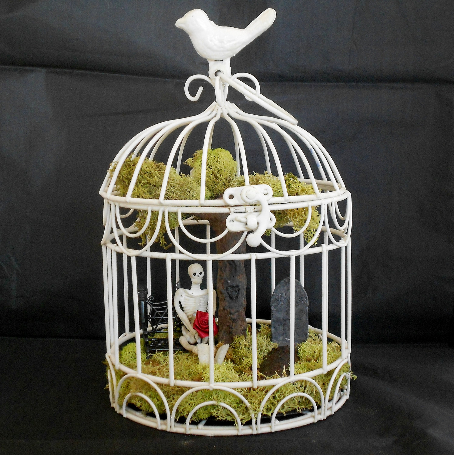 large decorative bird houses