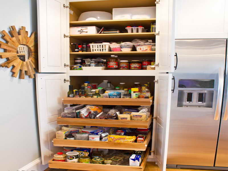 Image of: large kitchen pantry storage cabinet