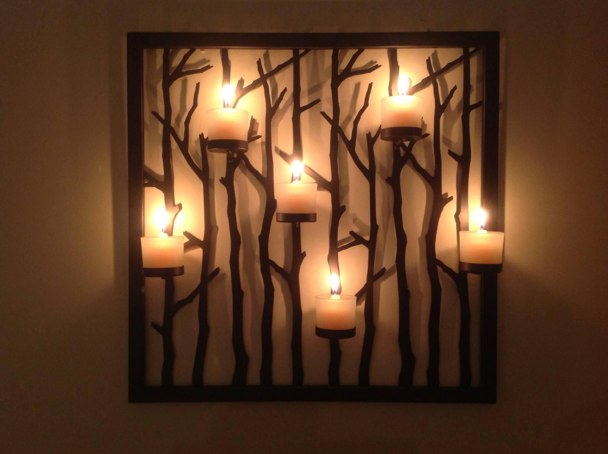 Image of: large wall candle decor