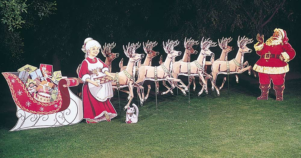 Image of: lawn christmas decorations