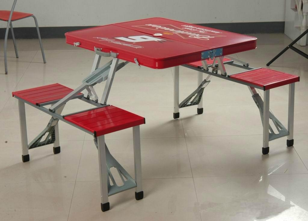 Image of: lightweight aluminum folding tables