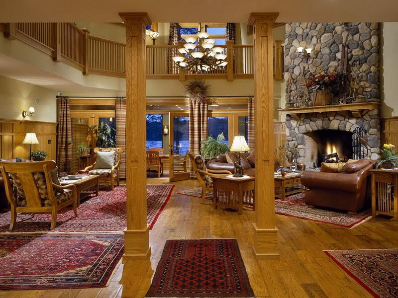 Image of: lodge cabin decor