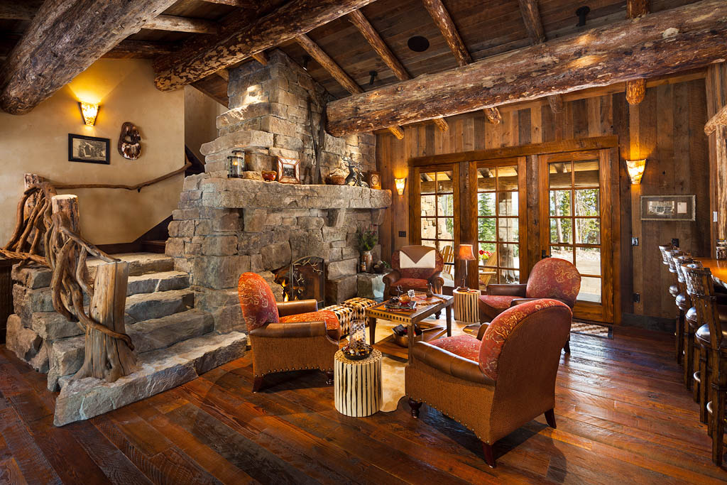 Image of: log cabin decorating ideas pictures