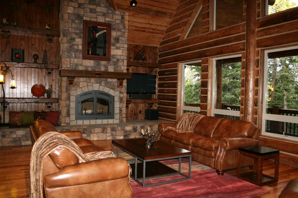 Image of: log cabin decorating ideas
