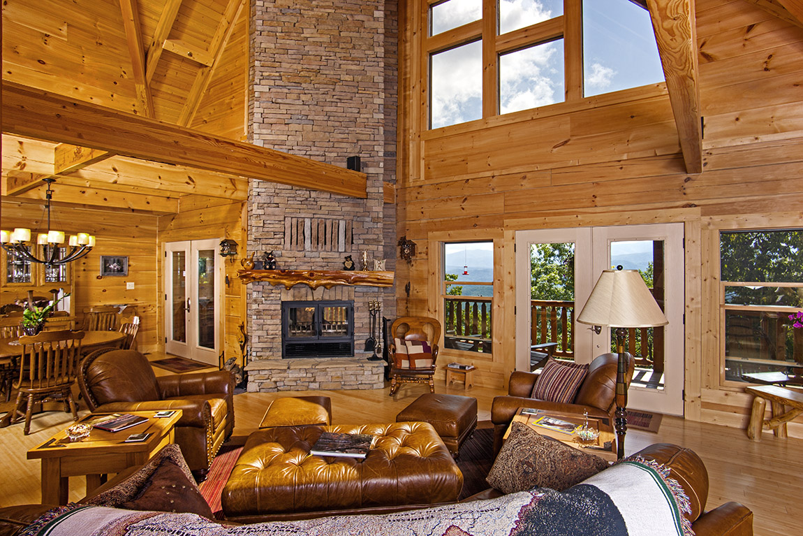 Image of: log cabin decorations