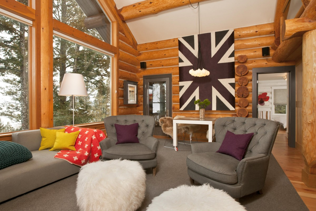 Image of: log cabin wall decor