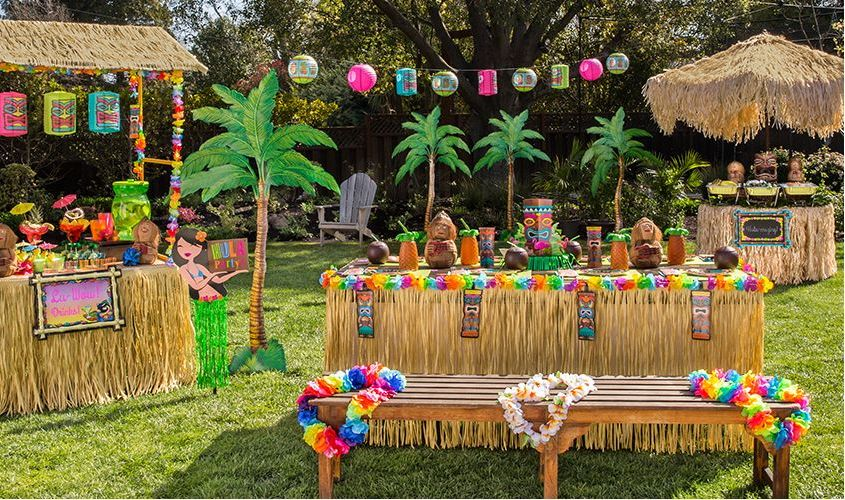 Image of: luau party decor