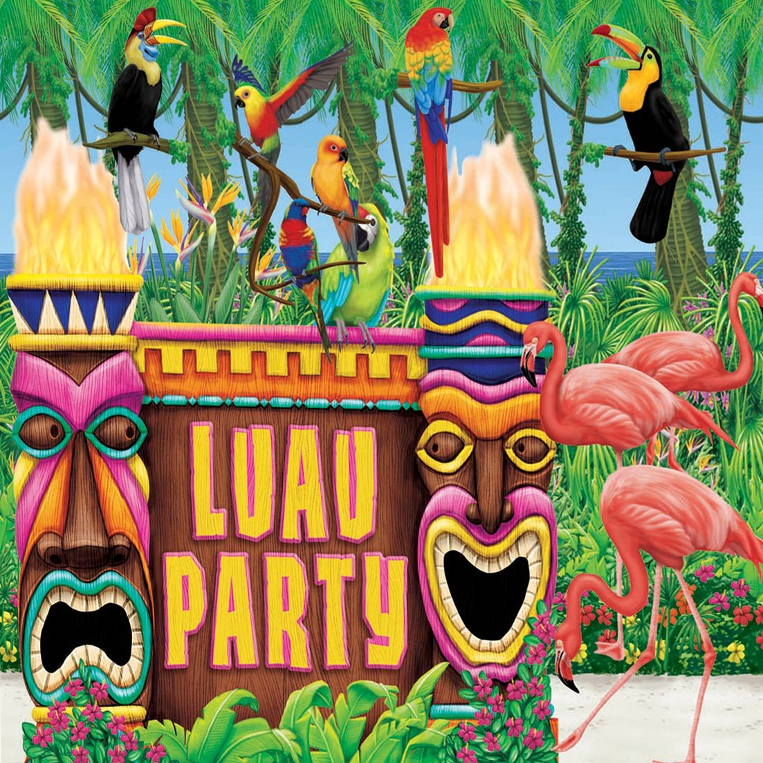 Image of: luau themed party decorations