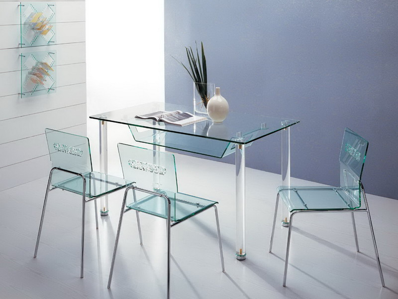lucite table and chairs