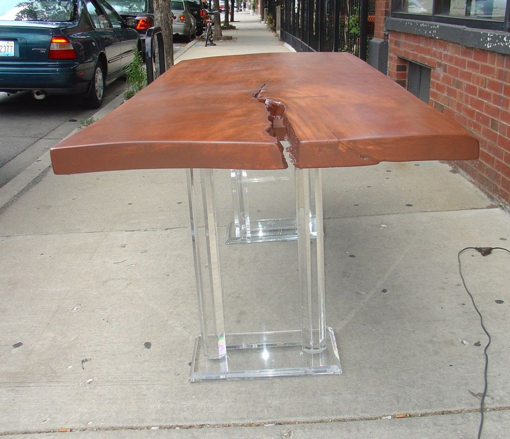 Image of: lucite table legs and bases