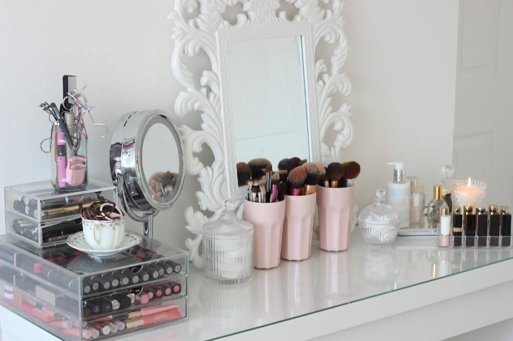 Image of: malm dressing table glass top