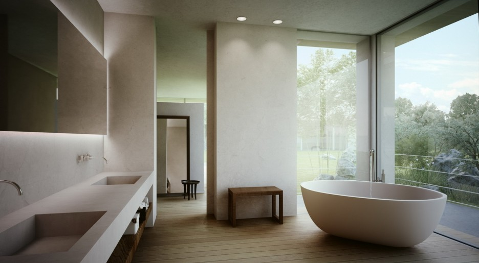 Image of: master bathroom contemporary designs
