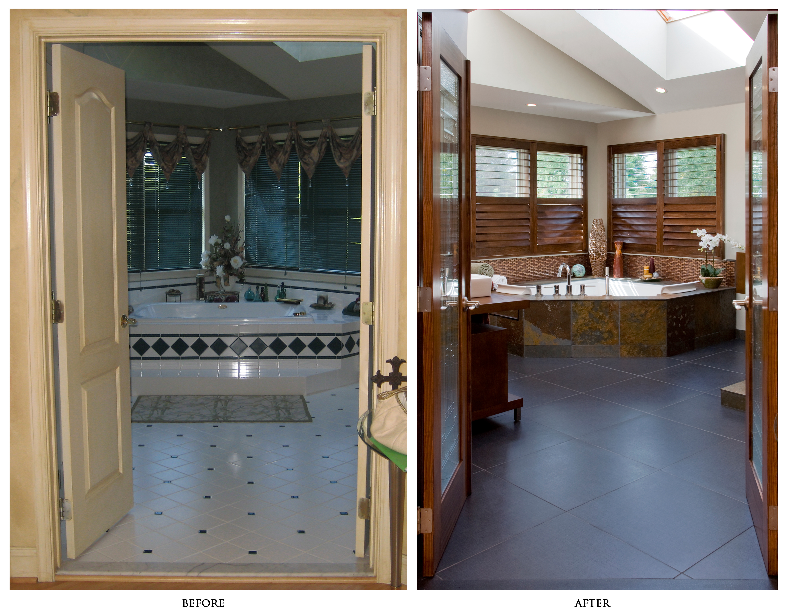 Image of: master bathroom remodels before and after