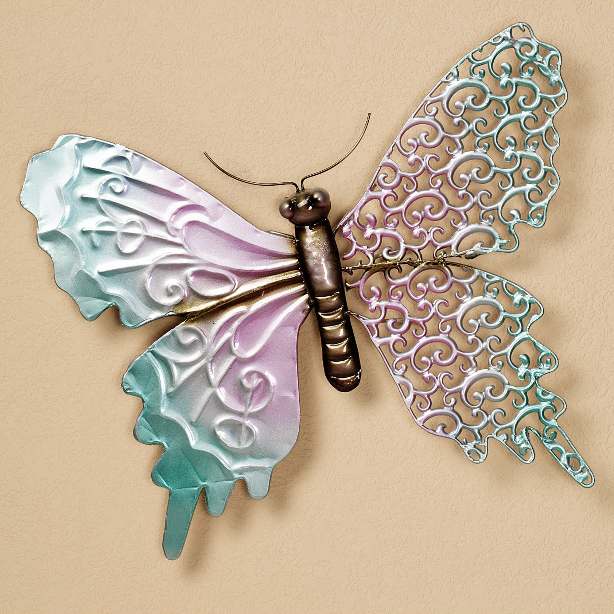 Image of: metal butterfly wall decor