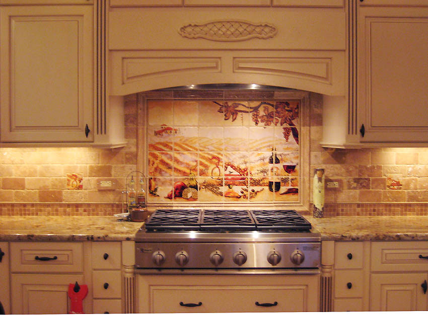 Image of: mexican tile backsplash designs