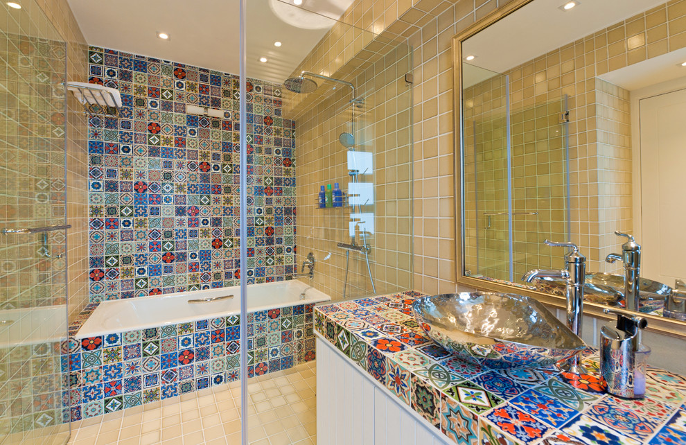 Image of: mexican tile bathroom pictures