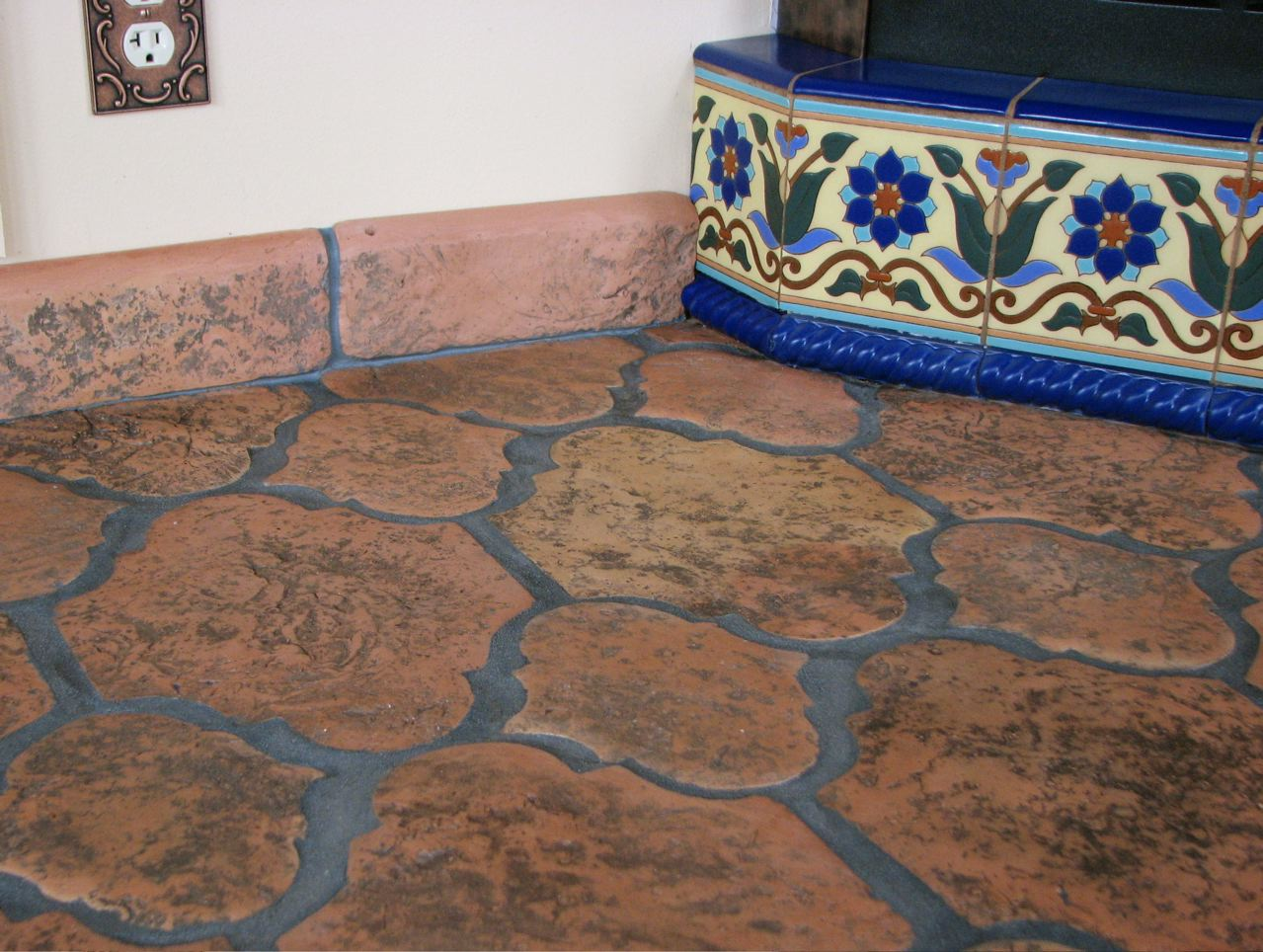 Image of: mexican tile designs floors
