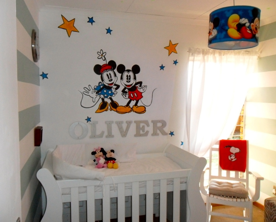 Image of: mickey mouse baby room decor