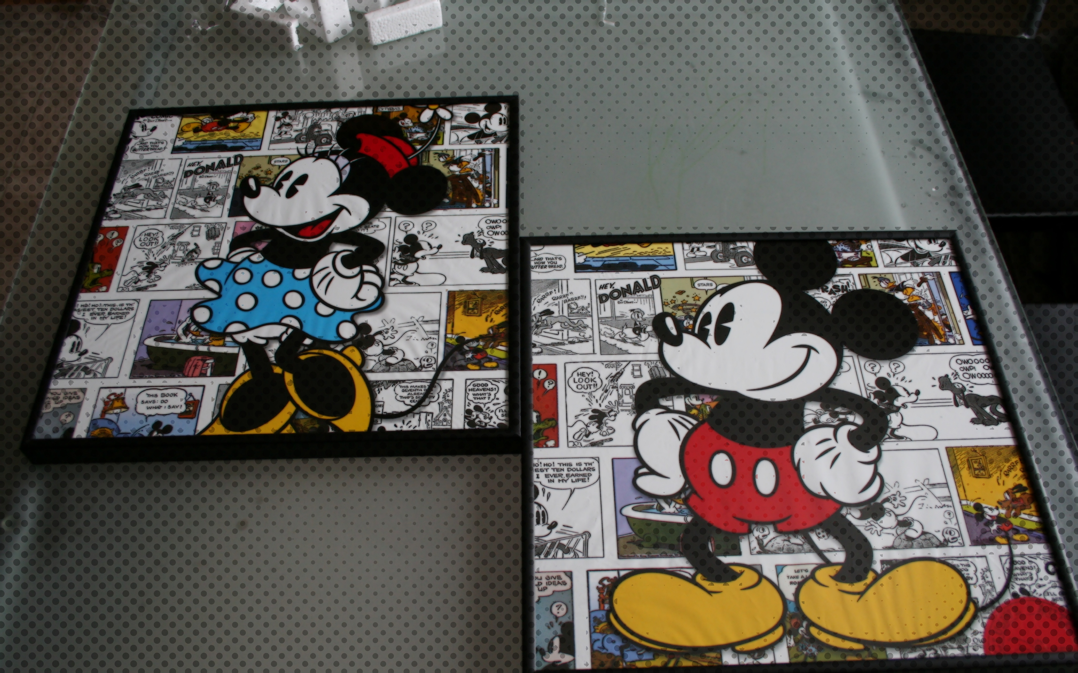 Image of: mickey mouse wall art ideas