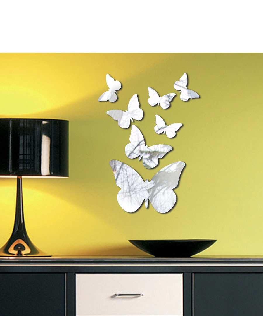 Image of: mirror butterfly wall decor