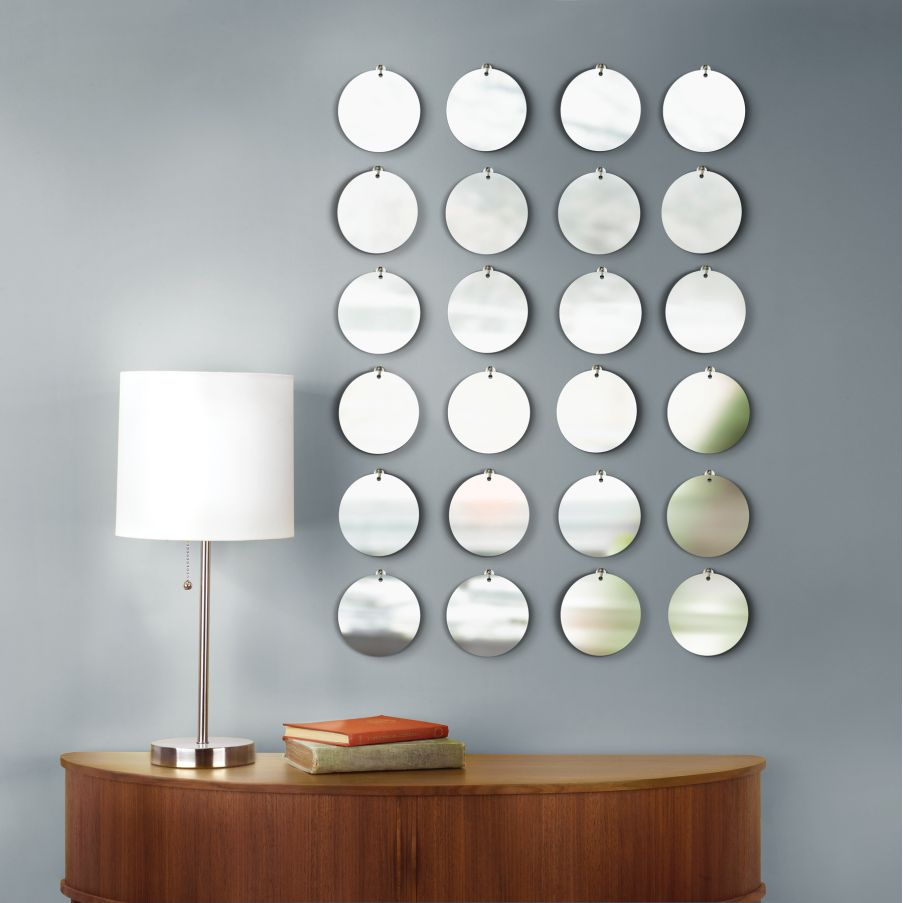 Image of: mirrored wall decor