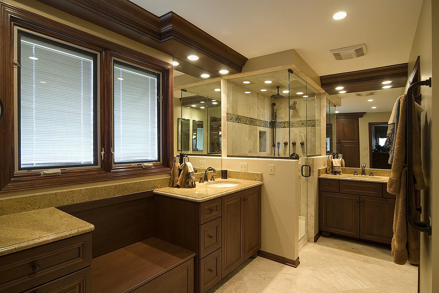 Image of: modern traditional bathroom designs