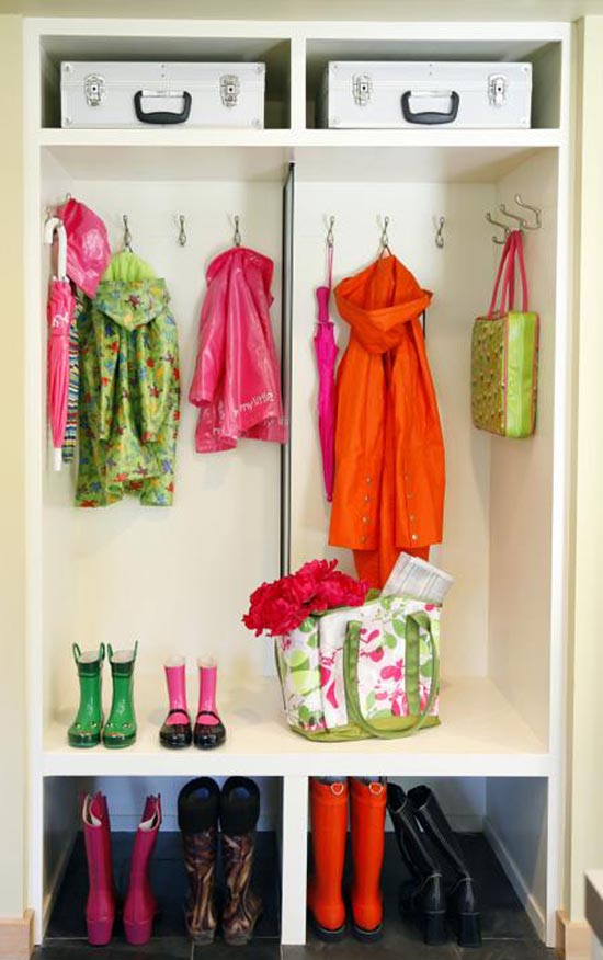 Image of: mudroom closet design