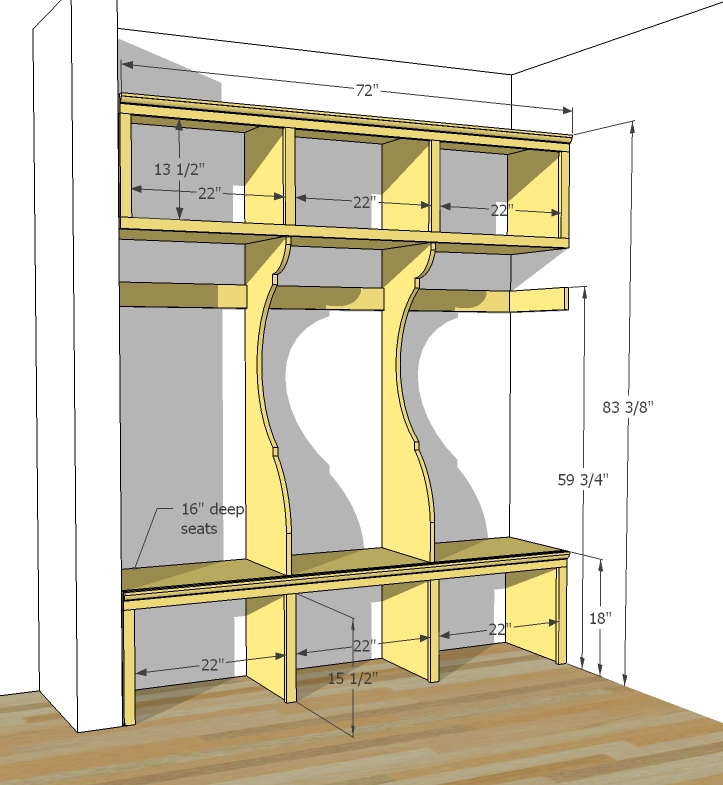 Image of: mudroom design plans