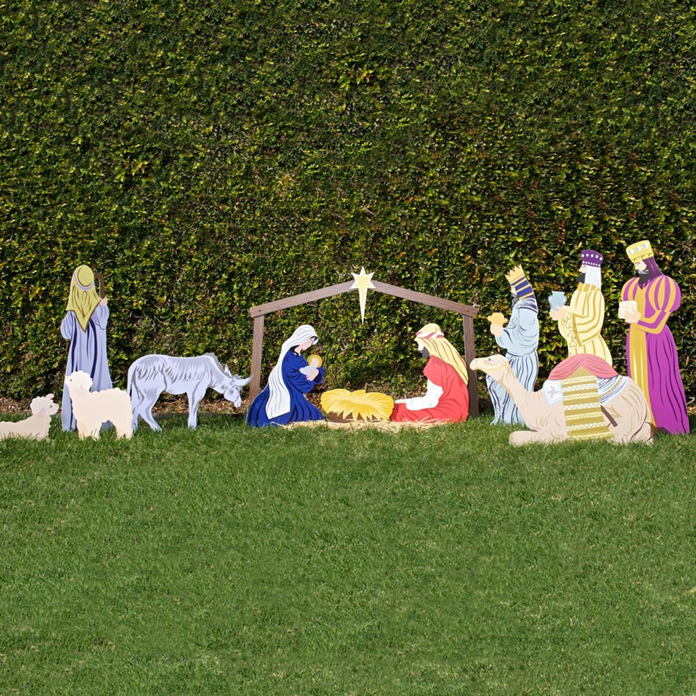 Image of: nativity lawn decorations