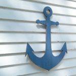 navy blue anchor wall decor