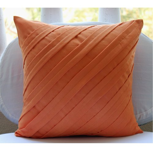 Image of: orange decorative pillow covers