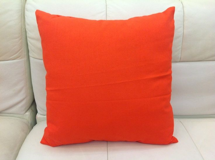 Image of: orange decorative pillows for couch