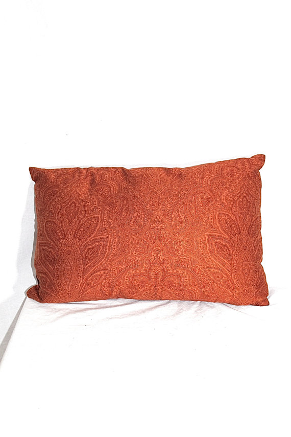 orange throw pillows etsy
