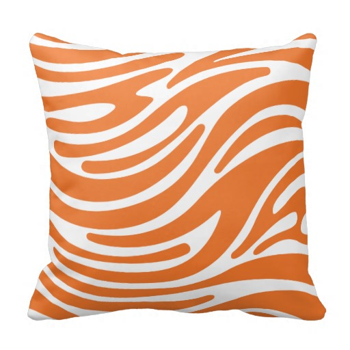 Image of: orange throw pillows modern