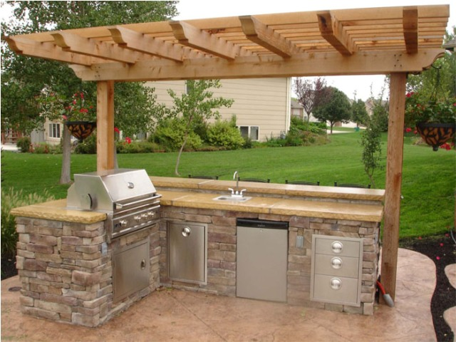 Image of: outdoor kitchen ideas plans