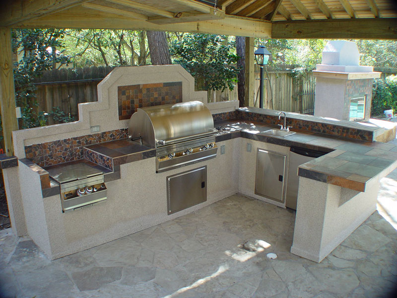 Image of: outdoor kitchen plans and designs