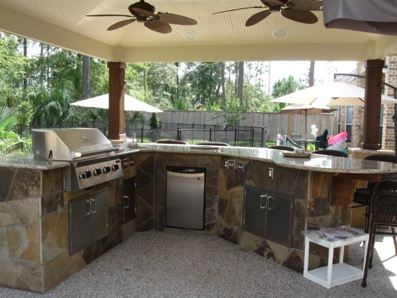 Image of: outdoor kitchen plans images