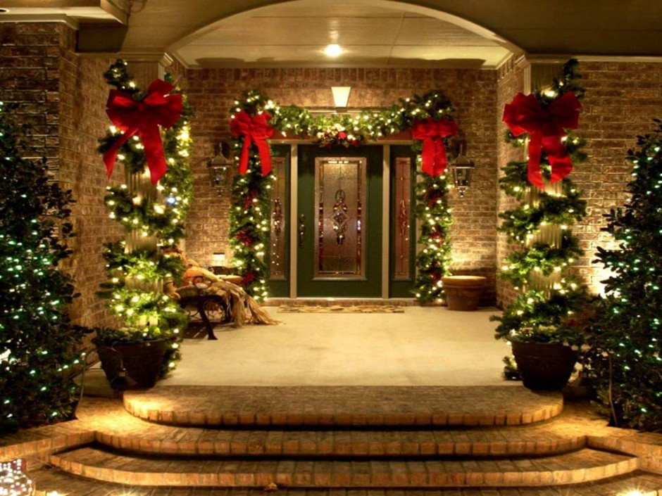 Image of: outdoor lighted christmas decorations
