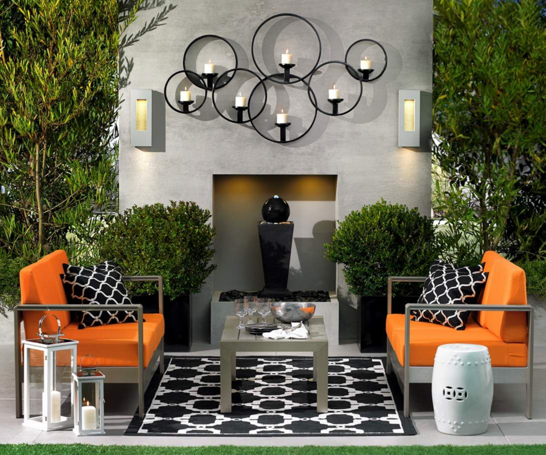 Image of: outdoor wall decor