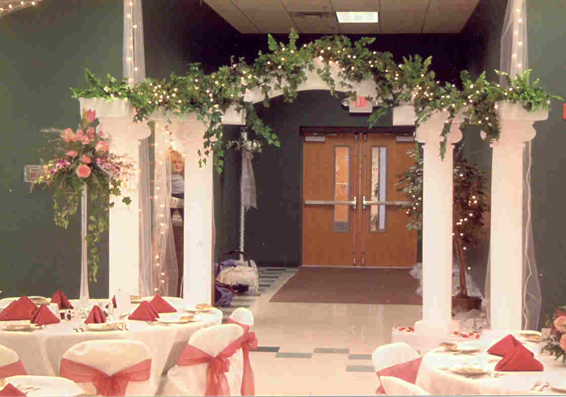 Outdoor Wedding Arch Decorations Icmt Set Spring Outside