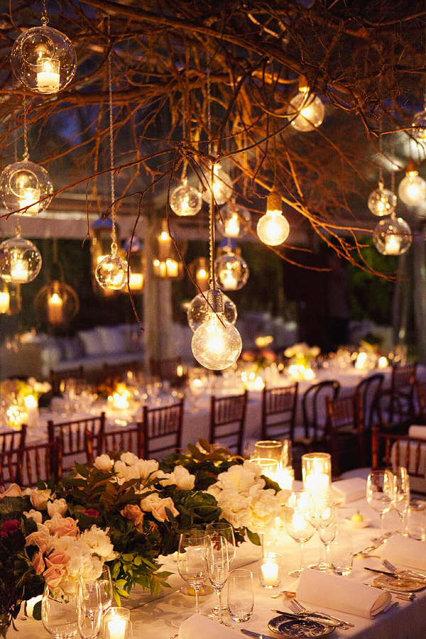 Image of: outdoor wedding decorations evening