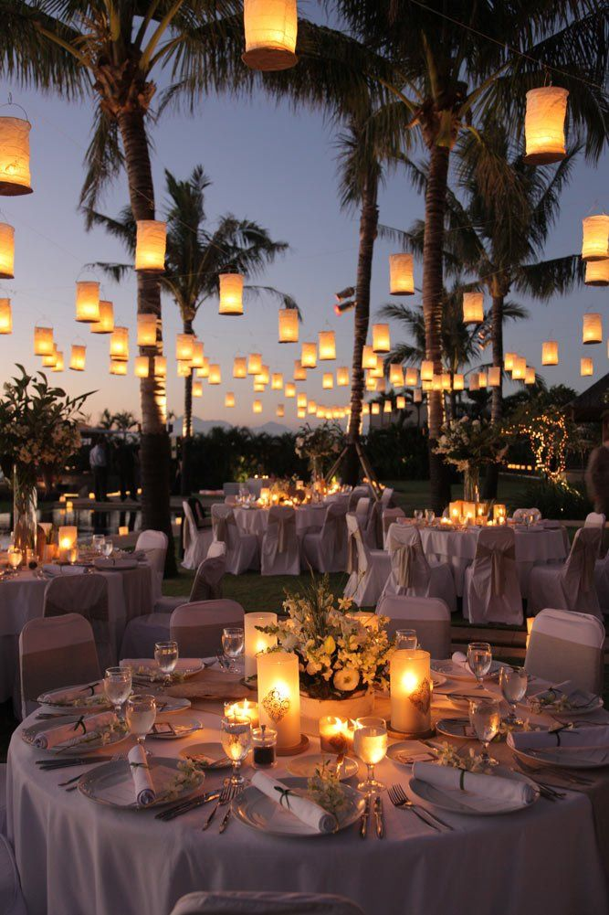 Image of: outdoor wedding decorations lanterns