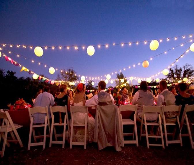Image of: outdoor wedding decorations lights