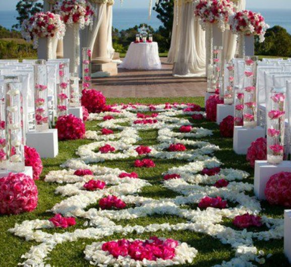 Image of: outside wedding decorations aisle